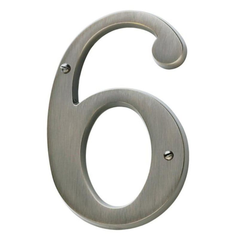 Baldwin 90676 Solid Brass Residential House Number 6 Lifetime Satin Nickel Home Accents Address Numbers 6 House Numbers Tile House Numbers Metal House Numbers
