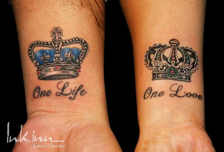 One Love One Life Matching Tattoos Matching Couple Tattoos