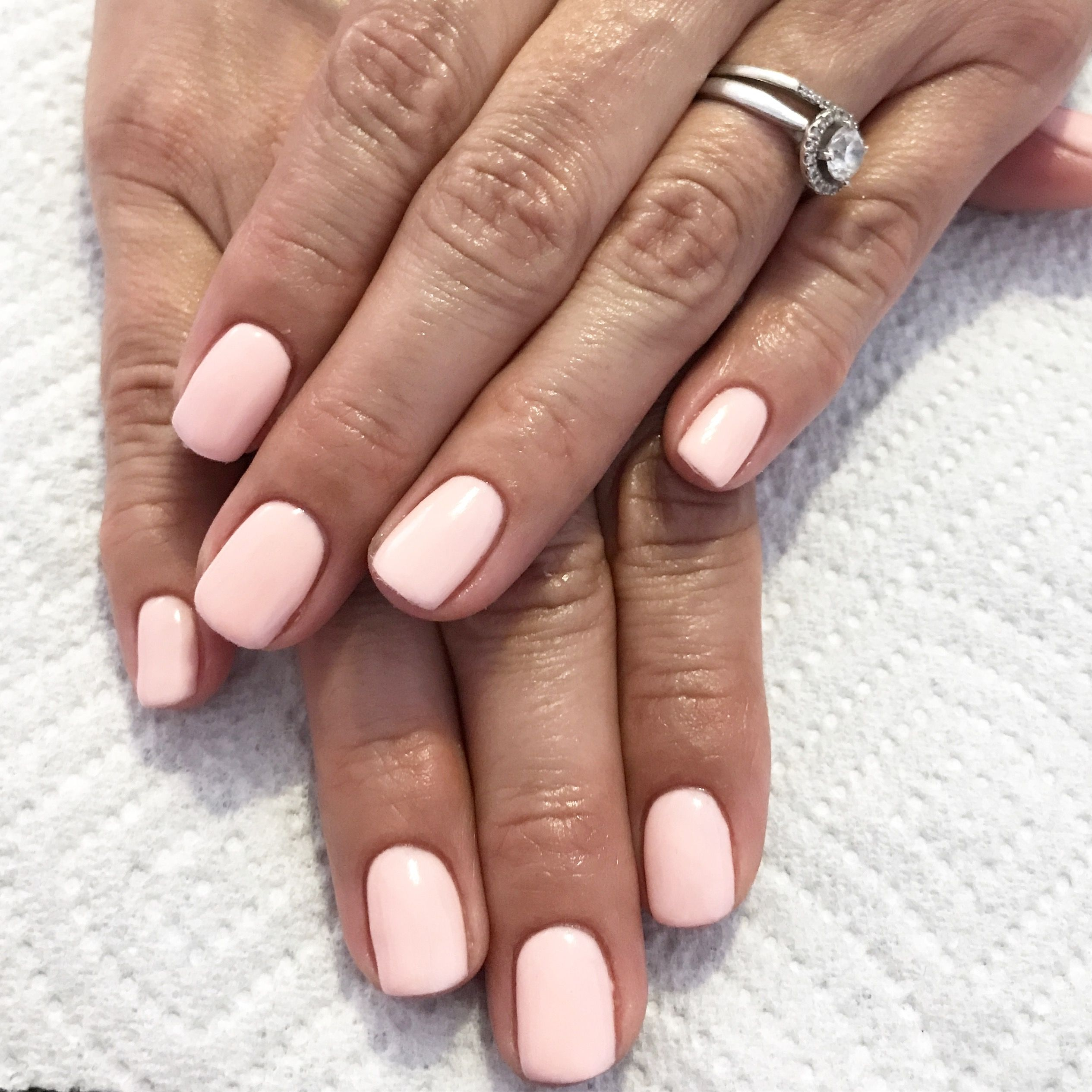 Perfect pale pink nails. Gel nails. Pink nails. Natural ...