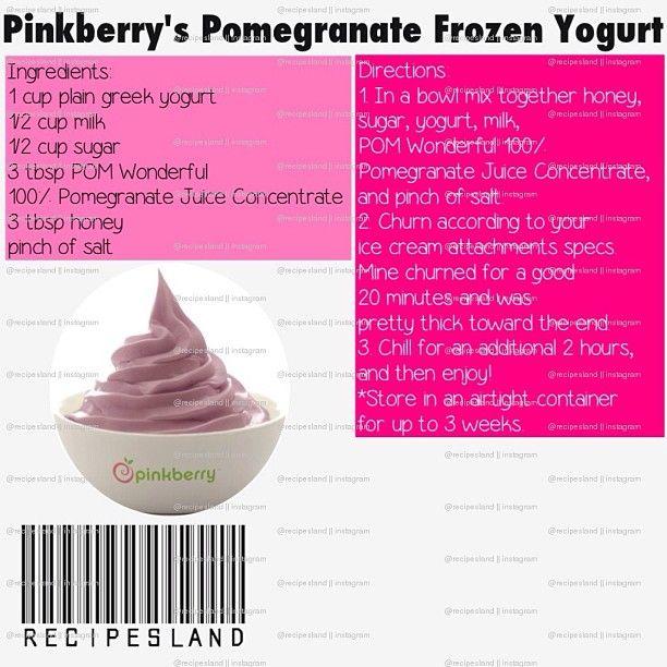 Pinkberry Pomegranate Frozen Yogurt Recipe – Besto Blog
