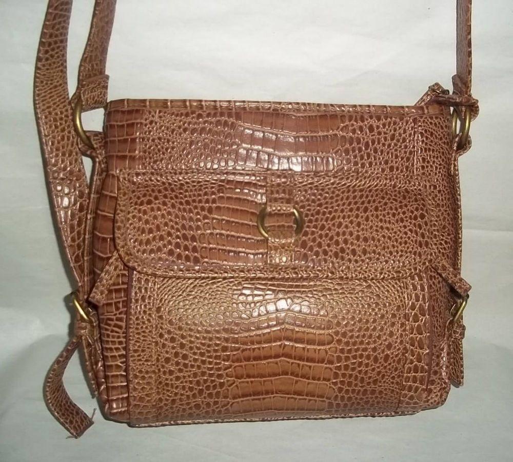 Vintage Coldwater Creek Faux Leather Shoulder Bag  ColdwaterCreek   ShoulderBag 97170742ef579