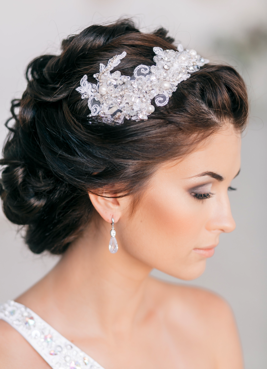 Trendy bridal headpiece - Check Out These 30 Latest Trendy Wedding Hairstyles For Your Big Day And See Below For Bridal Hair Tip Of The Day