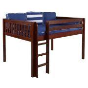 Best Theo Chestnut Low Queen Loft Bed Frame Loft Bed Frame 400 x 300