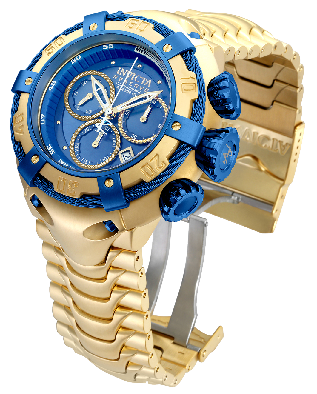 dd02c5f724c INVICTA BOLT SWISS MADE QUARTZ WATCH - GOLD, BLUE CASE WITH GOLD TONE  STAINLESS STEEL BAND - MODEL 21347 #goldwatches #invictawatches  #boltcollection # ...