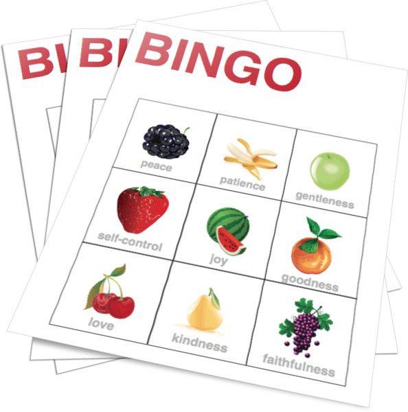 Fruits Of The Spirit Bingo