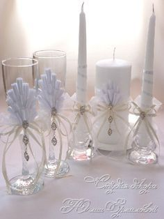 decoracion de copas y velas