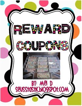 This is by far the BEST behavior modification I have ever done! I got rid of the treasure box and give these reward coupons instead. This intrinsic...