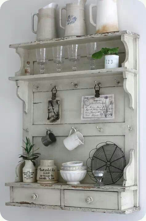 A really old door made useful again. Who knew?! | fer | Pinterest ...