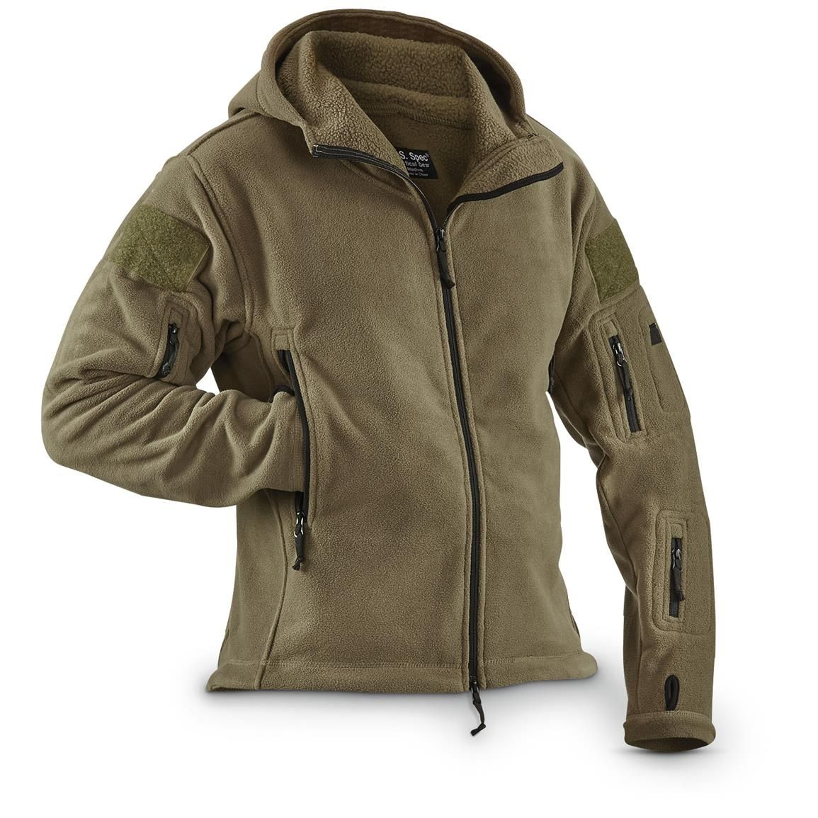U.S. Spec™ Heavyweight Hooded Fleece Jacket | Gift Ideas ...