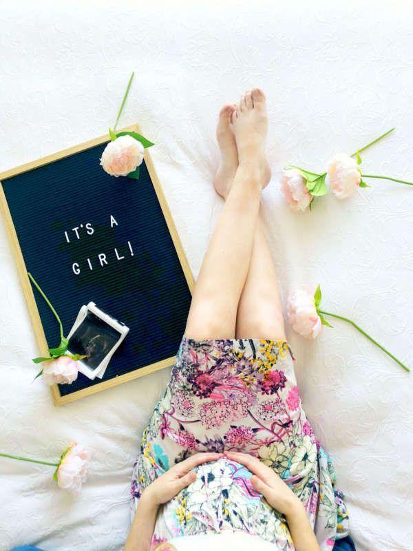 20 Week Pregnancy Update & Gender Reveal | Aesthetics | Pinterest ...