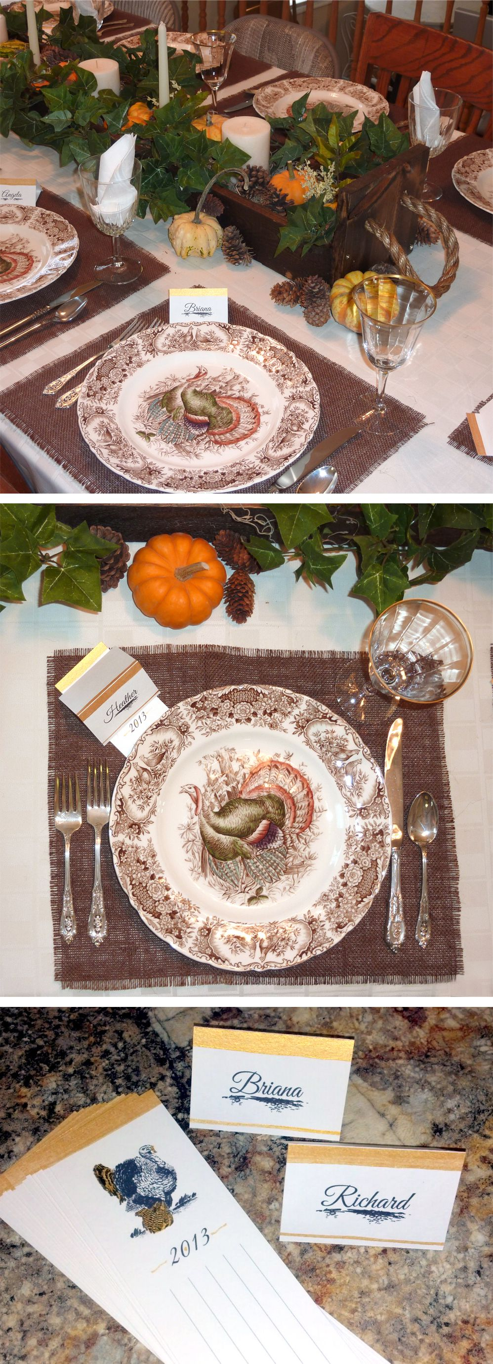 Thanksgiving table setting: Add a personalized touch to you name ...