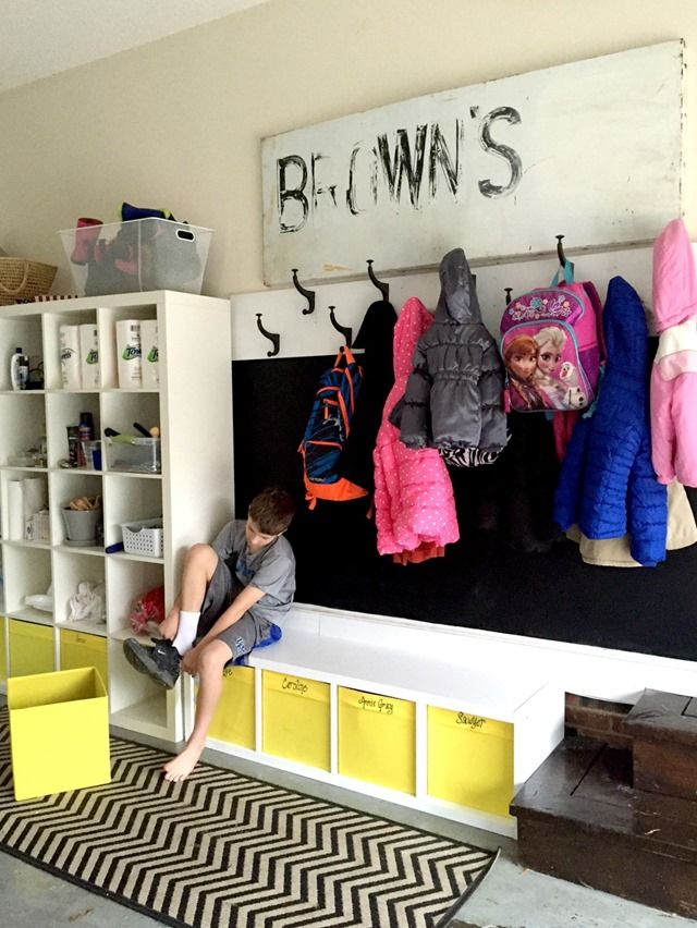 """Creating a """"Mudroom"""" In Our Garage 