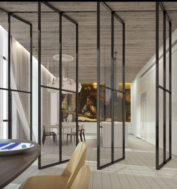 La porte coulissante en verre - gain du0027espace et esthétique moderne