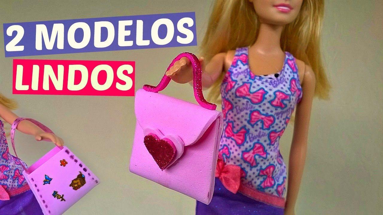 Como Fazer Bolsa De Eva Para Barbie Barbie House And How To