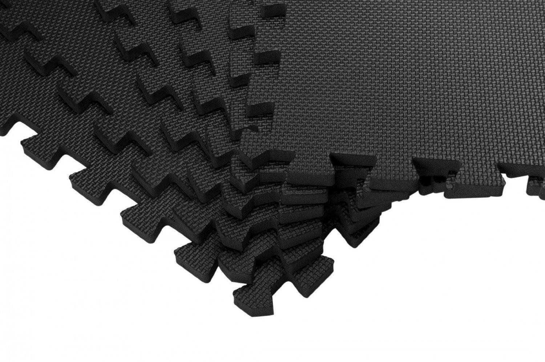 12 Eva Fitness Puzzlematten bonsport Schutzmatten Set 40x40 cm Bodenschutzmatten f/ür den Fitnessraum oder Keller