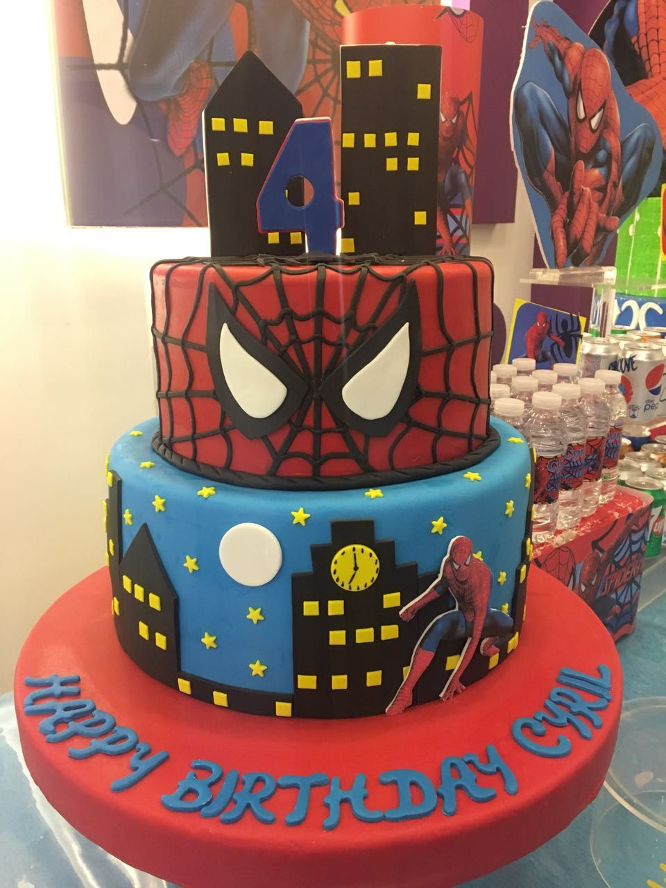 Miraculous Spiderman Themed Cake 4 Years Old Check Out Our Page For More Funny Birthday Cards Online Alyptdamsfinfo
