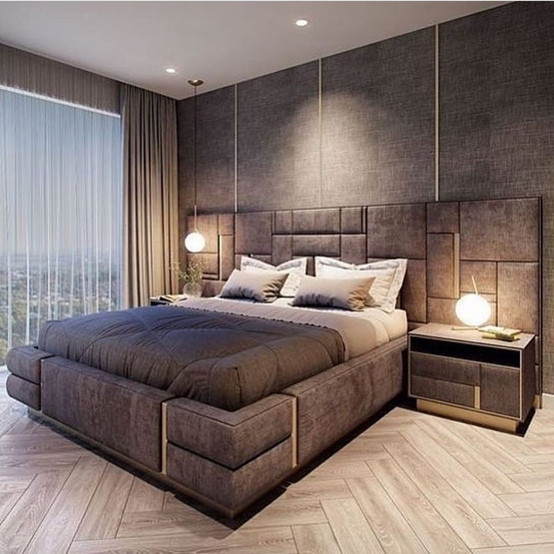 Villa maison de luxe   Modern luxury bedroom, Bedroom bed design ...
