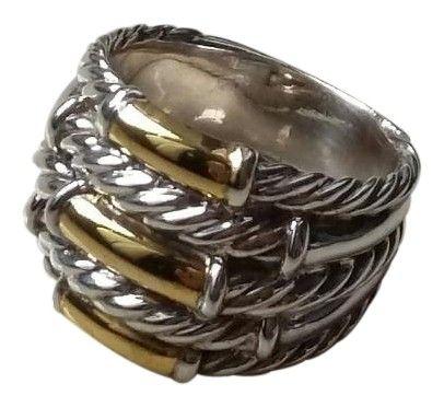600dcfada Free shipping and guaranteed authenticity on David Yurman Sterling Silver  Gold Bamboo Ring size 6.5 at Tradesy. Awesome David Yurman Silver and 14k  ...