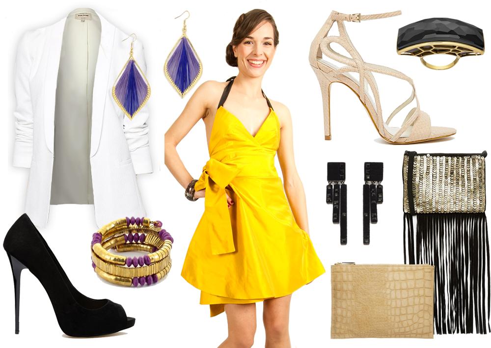 Veste pour robe jaune