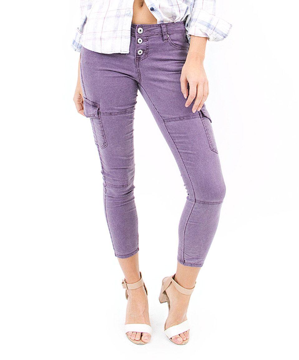 Love this Purple Cargo Pants by Vanilla Star Denim on #zulily! #zulilyfinds