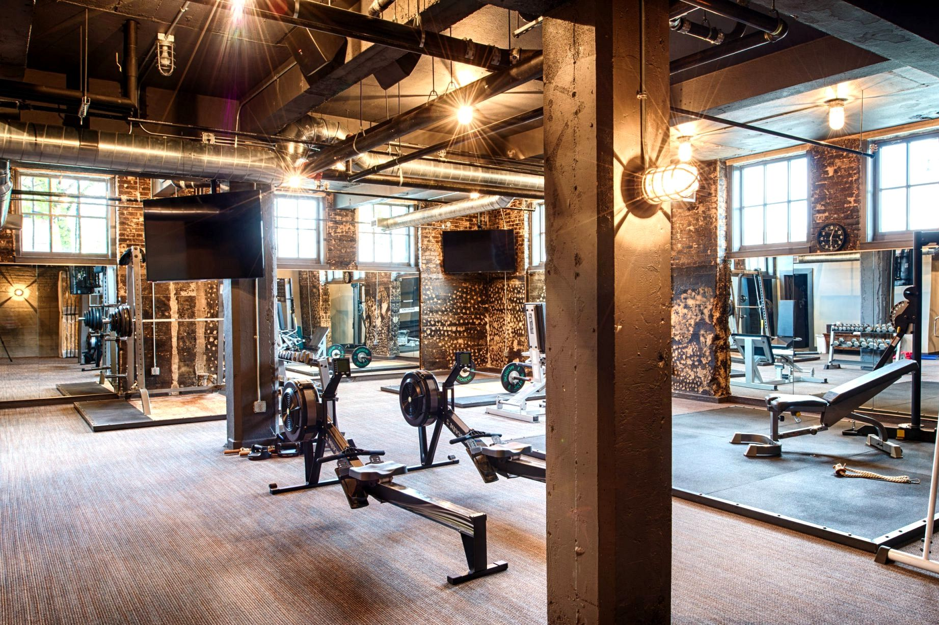 Fargo Laundry Industrial Home Gym Industrial House Home Gym Home Gyms Ideas