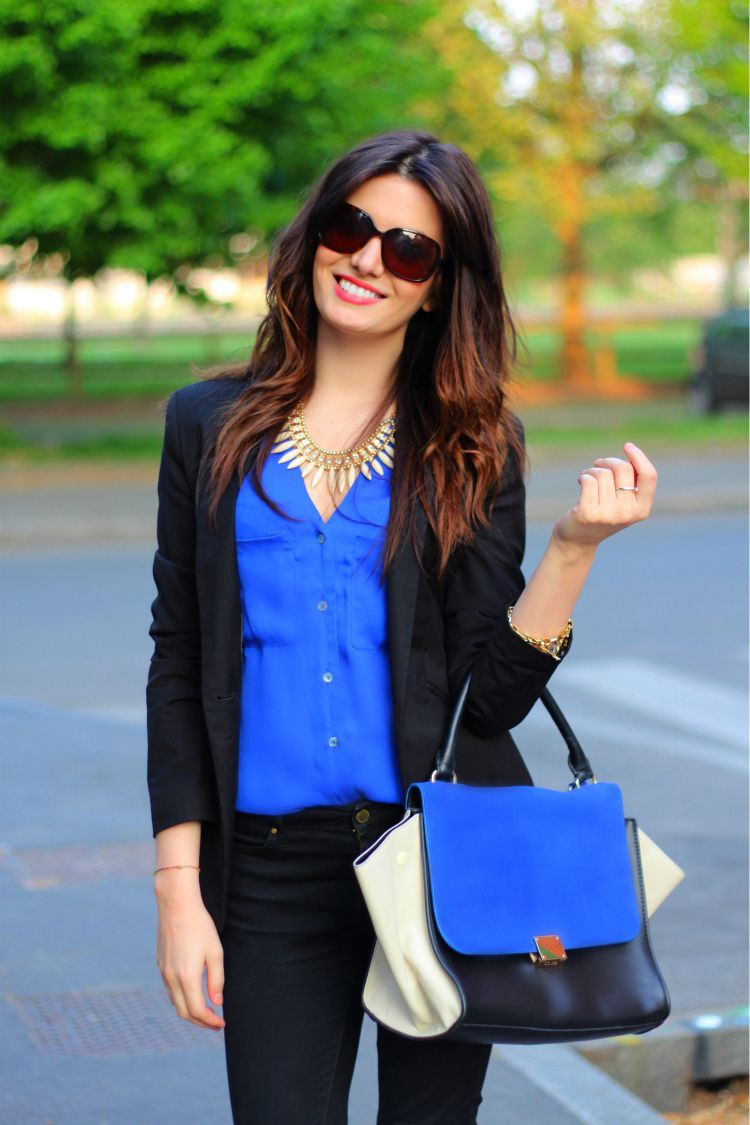 Image result for black and blue outfits
