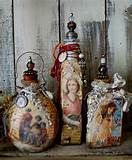 Image detail for -altered bottles by zinnia treasures #weckgläserdekorieren