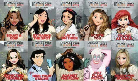 #OITNB #OrangeistheNewBlack #Disneyfied #princesses #Chapman #Nicky #Sophia #perfection