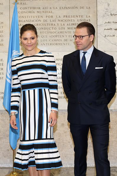Princess Victoria of Sweden and Prince Daniel of Sweden visit the Food and Agriculture Organization Headquarters in Rome during the seminar 'Step it...