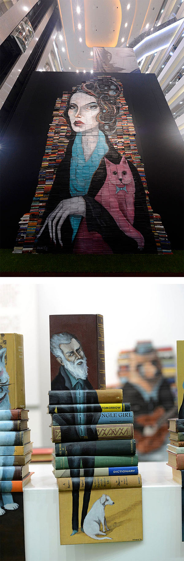 mike-stilkey-painted-book-sculptures23