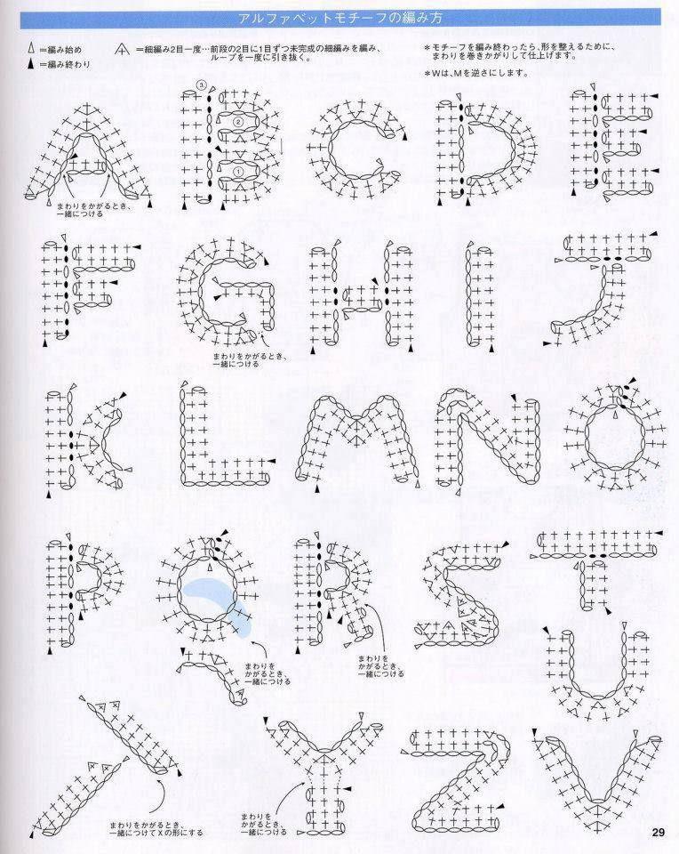 Alphabet crochet Pinterest