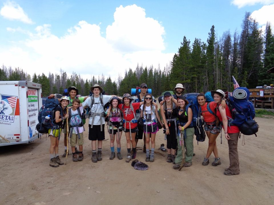 I wen on a trip up 3 14ers (if you don't know what that means, then it means 14,000 feet in altitude, like pikes peak aka a mountain) and my trip group was called TASC or teen adventure survice camp, and this was a picture of us as soon as we got off the mountains that we were on for 7 of our 10 day trip.