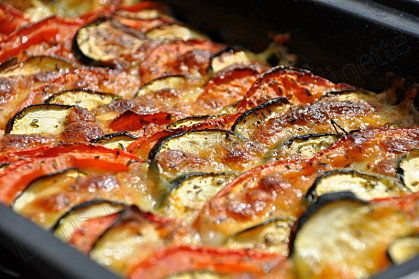 Tian de courgettes, tomates et mozzarella (Recette ...