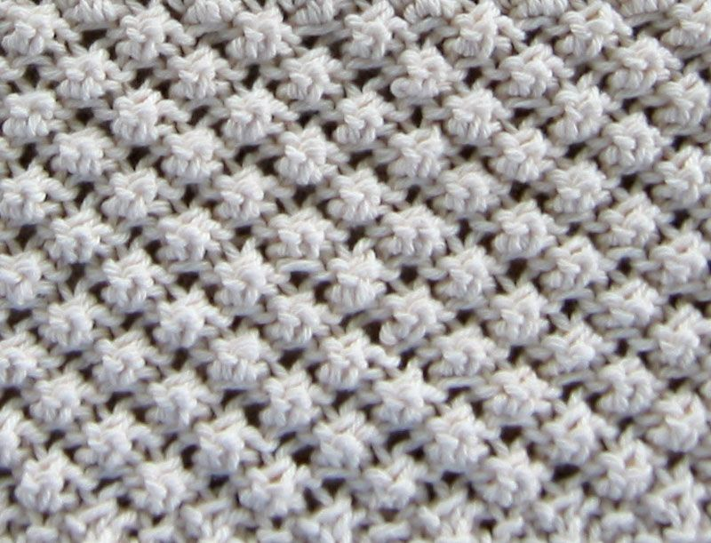 The Trinity Knit Stitch Tutorial Instructions Pictures Diy