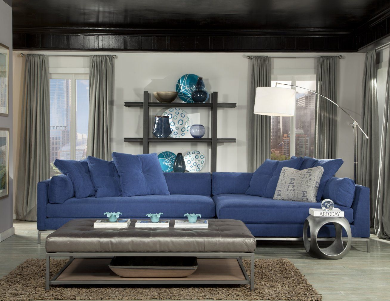 Living room furniture cordoba 2 pc sectional - Jonathan Louis Furniture