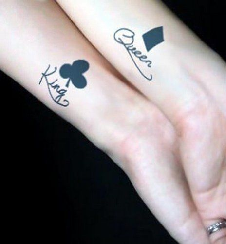 Magicpieces Temporary Tattoo Sticker King And Queen Tattoos