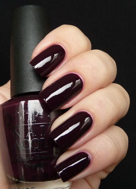 Opi William Tell Me About Opi The Perfect Deep Dark Vampy Red Perfect Formula Too Covers In Two Super Easy Coats Plum Nails Manicure Nail Polish
