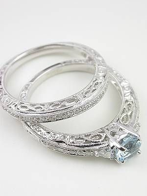 Vintage Style Wedding Ring With Infinity Motif Rg 2814wbai In 2018