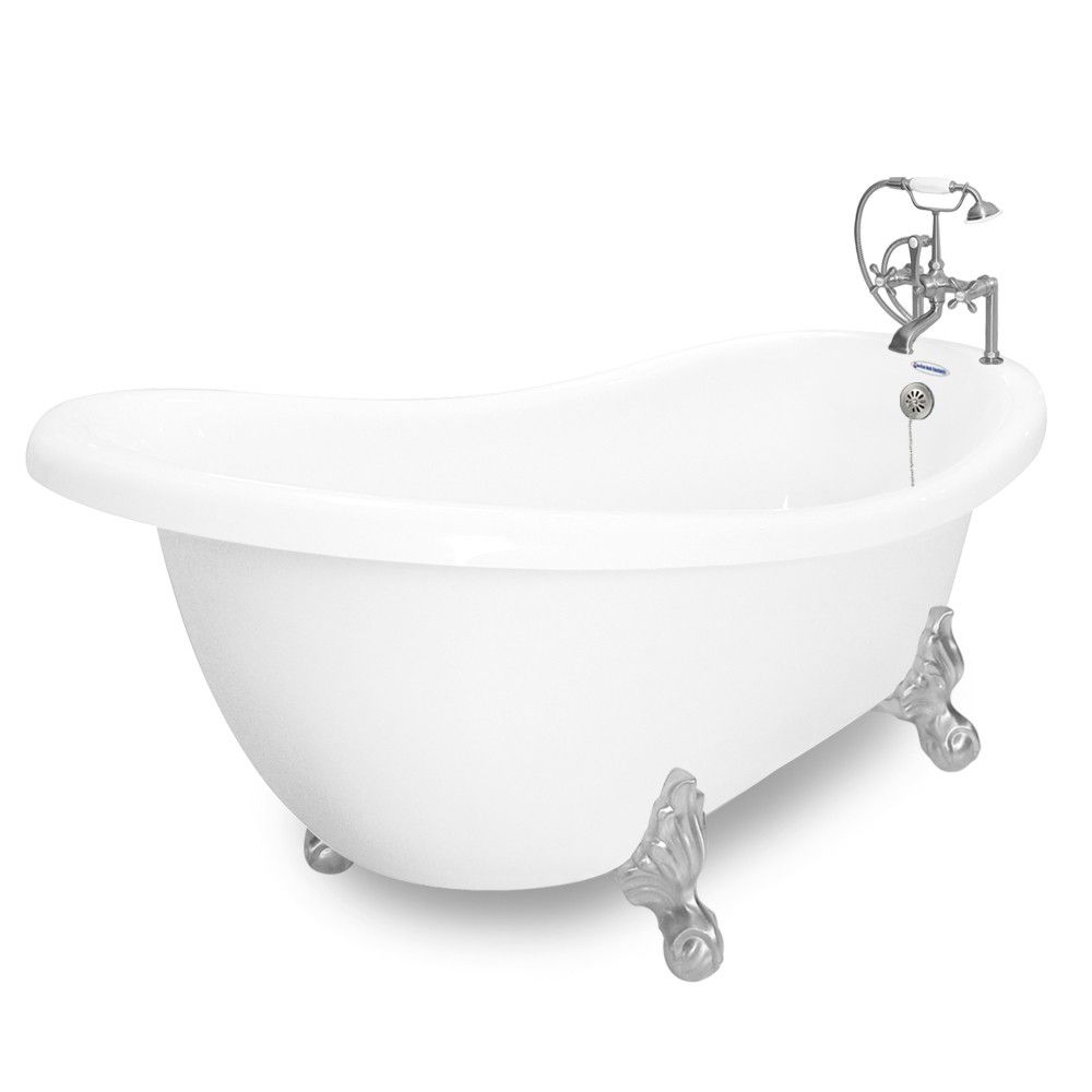 American Bath Factory Churchill 71 White Acrastone Package