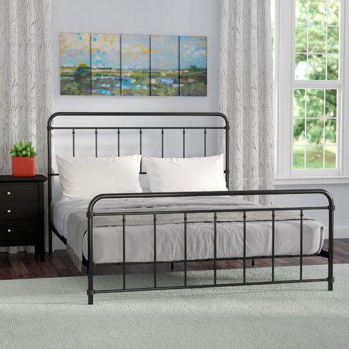 Andover Mills Matheney Platform Bed Minimalist Bed Guest Bedroom Upholstered Platform Bed