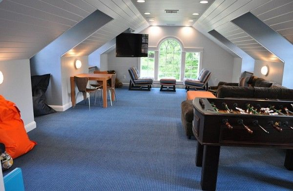 How To Transform Your Attic Into A Fun Game Room Attic Game Room Home Room