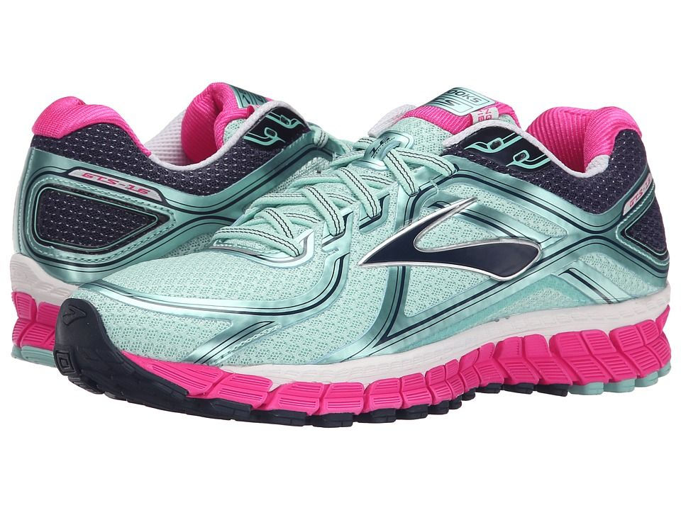 da1b7bf8122 BROOKS BROOKS - ADRENALINE GTS 16 (BLUE TINT PINK GLO PEACOAT) WOMEN S  RUNNING SHOES.  brooks  shoes