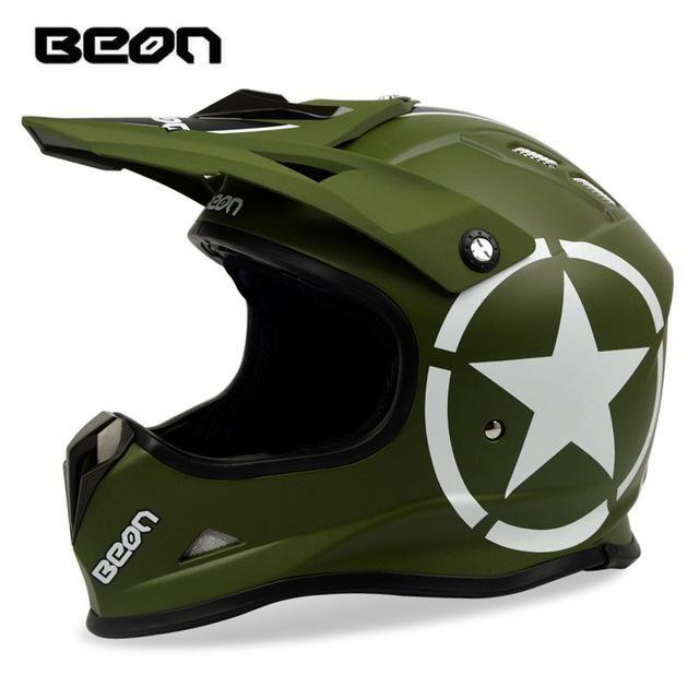BEON ATV Motocross Helmet Motorcycle Off-road Racing Dirt bike MTB DH  Helmets Motos Casque Casco para moto Motocicleta Capacete 6f5c41fd1bd7f