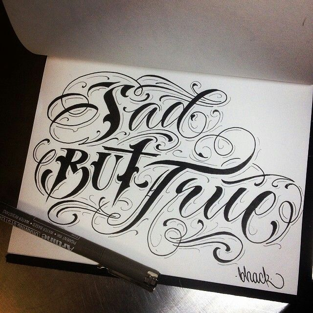 Graffiti Sad Quotes: Tattoo, Fonts And