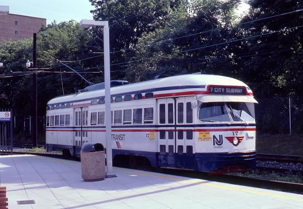 NJT Newark City Subway PCC trolley.