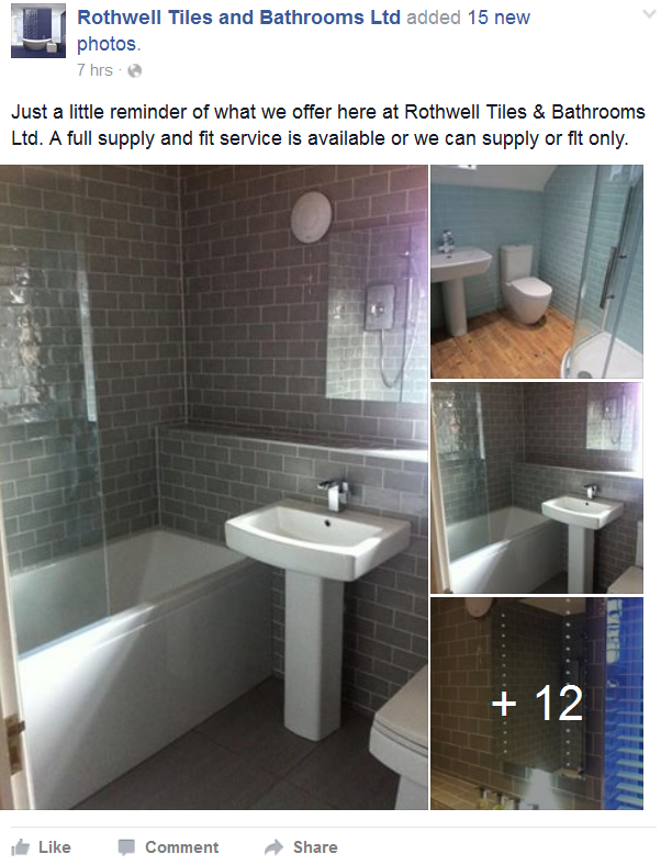 Just A Little Reminder Of What We Offer Here At Rothwell Tiles Bathrooms Ltd Full Supply And Fit Service Is Available Or Can Only