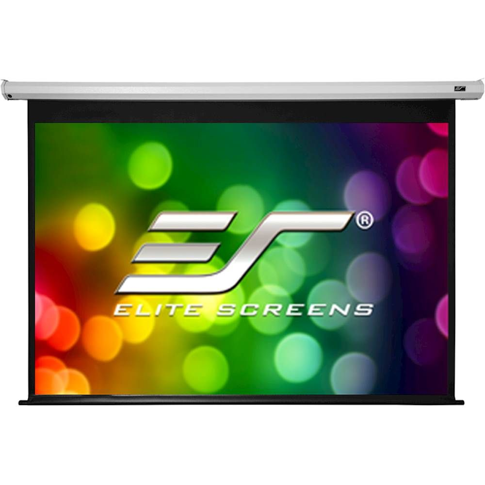 Elite Screens Spectrum Series 120 Electric Motorized Projector Screen White Electric120v Projector Screen Cool Things To Buy Projector