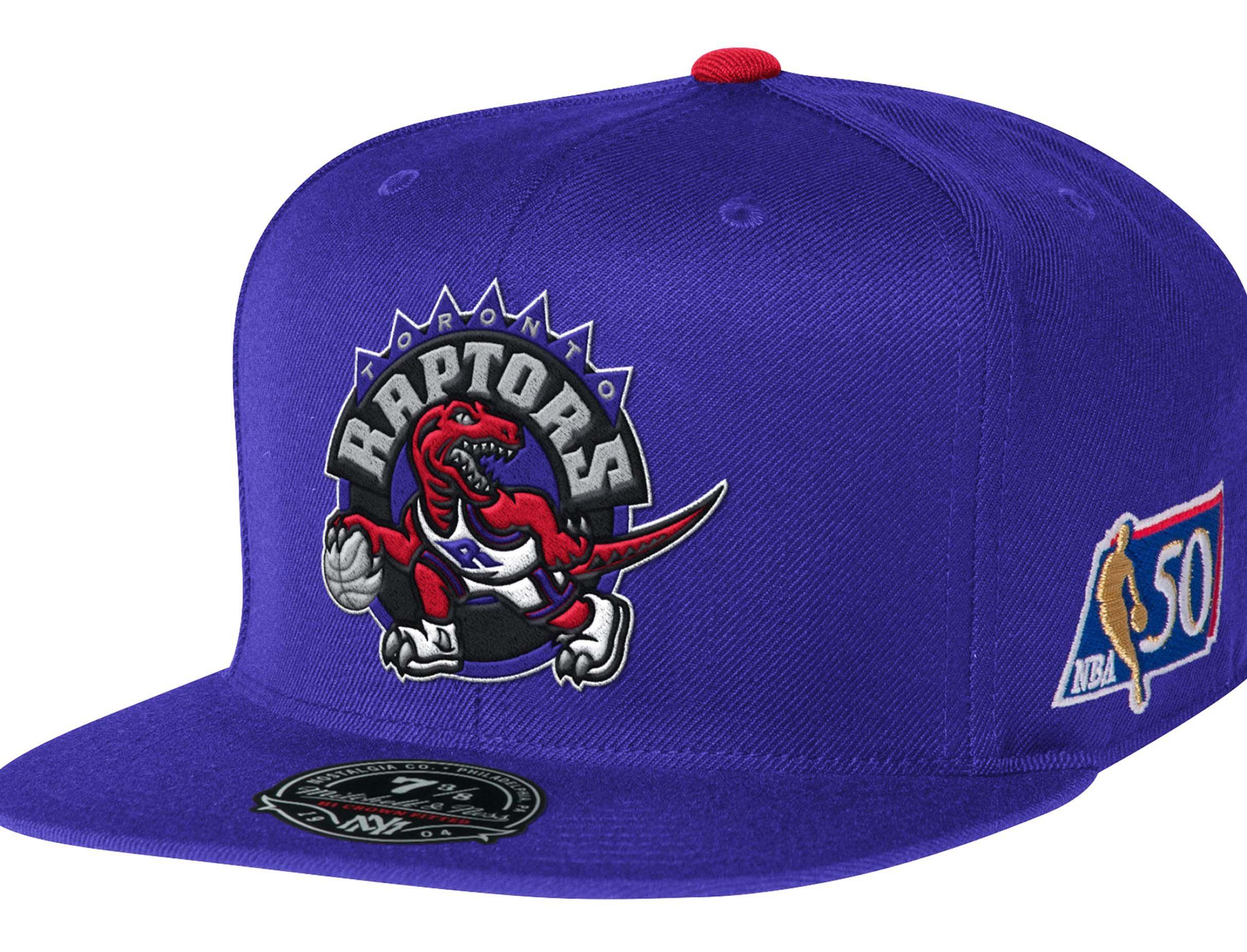 39959d420a5 Toronto Raptors NBA 50th Anniversary High Crown Fitted Baseball Cap by  MITCHELL   NESS x NBA