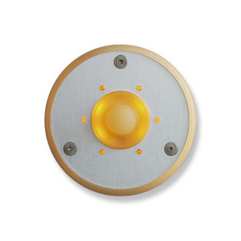 Spore Round LED Doorbell Button -