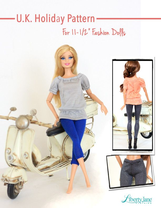 "U.K. Holiday Outfit for 11-1/2"" Fashion Dolls 